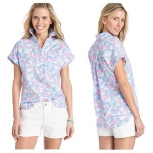 VINEYARD VINES PINEAPPLE PRINTED POPOVER
